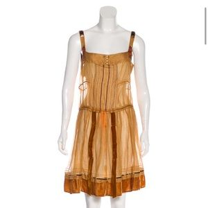 Louis Vuitton pleated mini dress like new